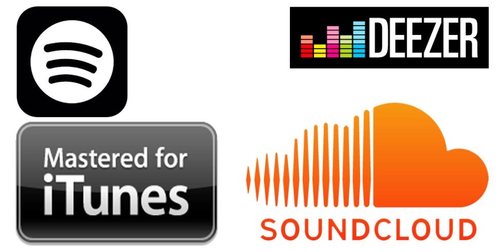 Social Media Sound Platform Logo Mix